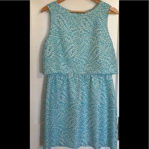 Faux crop top dress.